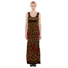 Beautiful Art Pattern Maxi Thigh Split Dress