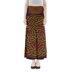 Beautiful Art Pattern Full Length Maxi Skirt