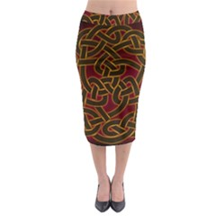 Beautiful Art Pattern Midi Pencil Skirt