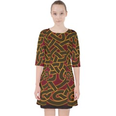 Beautiful Art Pattern Pocket Dress