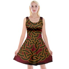 Beautiful Art Pattern Reversible Velvet Sleeveless Dress
