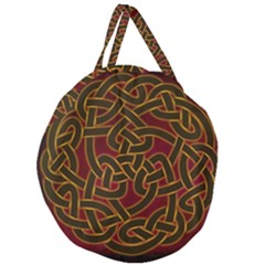 Beautiful Art Pattern Giant Round Zipper Tote