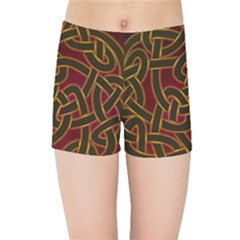 Beautiful Art Pattern Kids Sports Shorts