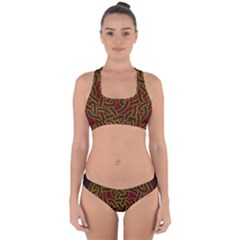 Beautiful Art Pattern Cross Back Hipster Bikini Set