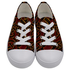 Beautiful Art Pattern Kids  Low Top Canvas Sneakers