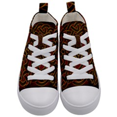 Beautiful Art Pattern Kid s Mid Top Canvas Sneakers
