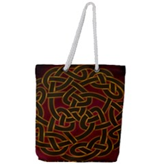 Beautiful Art Pattern Full Print Rope Handle Tote (large)