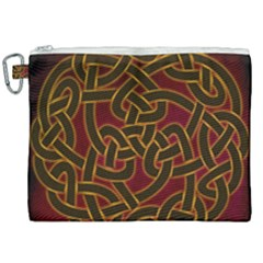 Beautiful Art Pattern Canvas Cosmetic Bag (xxl)