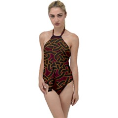 Beautiful Art Pattern Go With The Flow One Piece Swimsuit