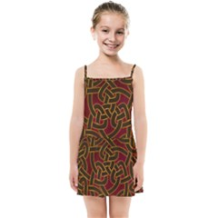 Beautiful Art Pattern Kids Summer Sun Dress
