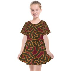 Beautiful Art Pattern Kids  Smock Dress