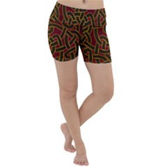 Beautiful Art Pattern Lightweight Velour Yoga Shorts