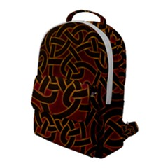Beautiful Art Pattern Flap Pocket Backpack (large)