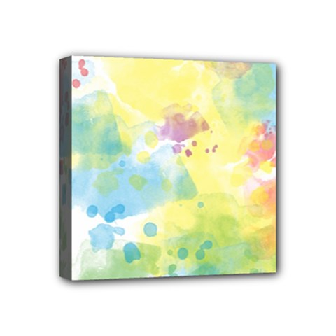 Abstract Pattern Color Art Texture Mini Canvas 4  X 4  (stretched)