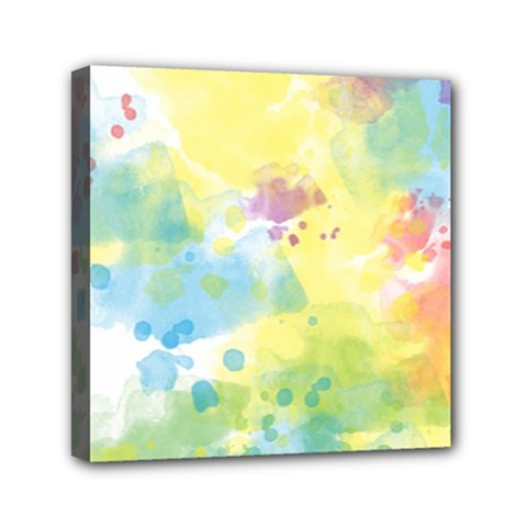 Abstract Pattern Color Art Texture Mini Canvas 6  X 6  (stretched)