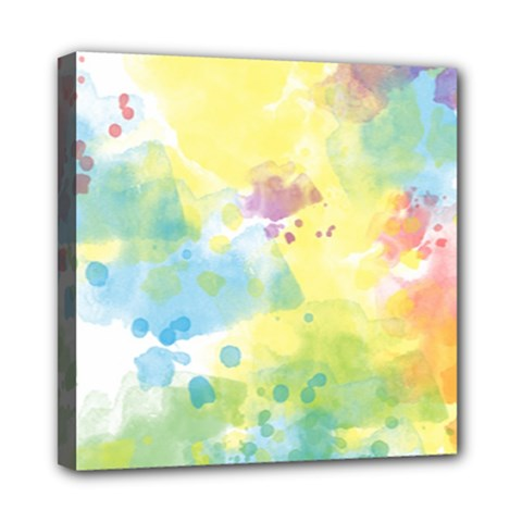 Abstract Pattern Color Art Texture Mini Canvas 8  X 8  (stretched)