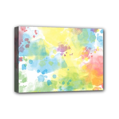 Abstract Pattern Color Art Texture Mini Canvas 7  X 5  (stretched)