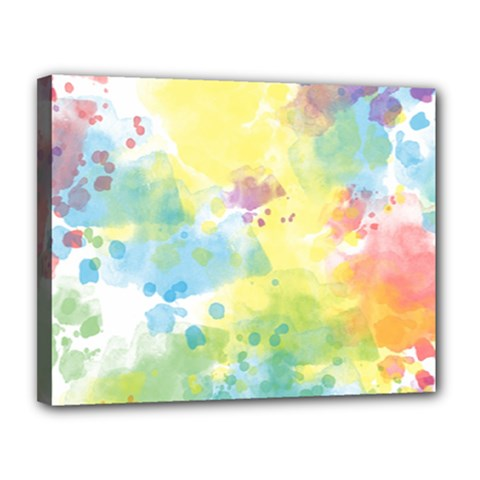 Abstract Pattern Color Art Texture Canvas 14  X 11  (stretched)