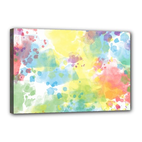 Abstract Pattern Color Art Texture Canvas 18  X 12  (stretched)