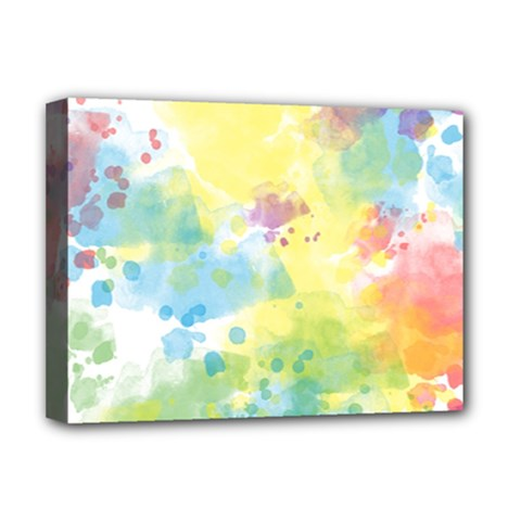 Abstract Pattern Color Art Texture Deluxe Canvas 16  X 12  (stretched)
