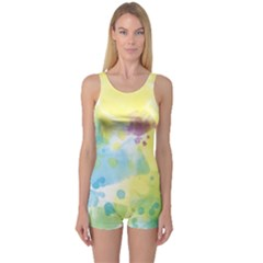 Abstract Pattern Color Art Texture One Piece Boyleg Swimsuit