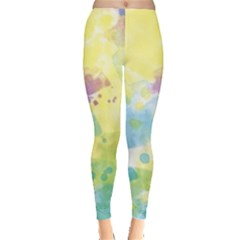 Abstract Pattern Color Art Texture Leggings