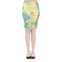 Abstract Pattern Color Art Texture Midi Wrap Pencil Skirt