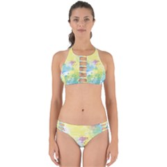 Abstract Pattern Color Art Texture Perfectly Cut Out Bikini Set