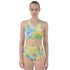 Abstract Pattern Color Art Texture Racer Back Bikini Set