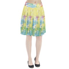 Abstract Pattern Color Art Texture Pleated Skirt