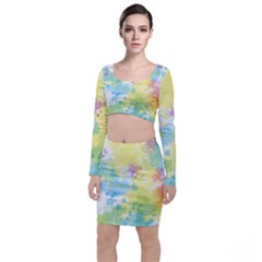 Abstract Pattern Color Art Texture Top And Skirt Sets
