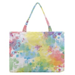 Abstract Pattern Color Art Texture Zipper Medium Tote Bag