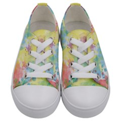 Abstract Pattern Color Art Texture Kids  Low Top Canvas Sneakers