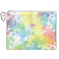 Abstract Pattern Color Art Texture Canvas Cosmetic Bag (xxl)