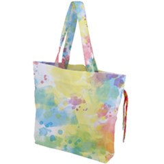 Abstract Pattern Color Art Texture Drawstring Tote Bag by Nexatart