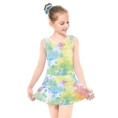 Abstract Pattern Color Art Texture Kids  Skater Dress Swimsuit