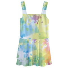 Abstract Pattern Color Art Texture Kids  Layered Skirt Swimsuit