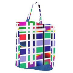Color Graffiti Pattern Geometric Giant Grocery Tote