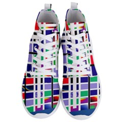 Color Graffiti Pattern Geometric Men s Lightweight High Top Sneakers