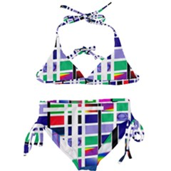 Color Graffiti Pattern Geometric Kids  Classic Bikini Set