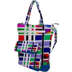 Color Graffiti Pattern Geometric Shoulder Tote Bag