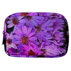 Pink Garden Flowers Make Up Pouch (small) by bloomingvinedesign