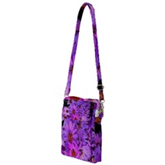 Pink Garden Flowers Multi Function Travel Bag by bloomingvinedesign