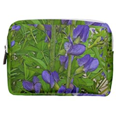 Purple Flowers Long Stems Make Up Pouch (medium) by bloomingvinedesign