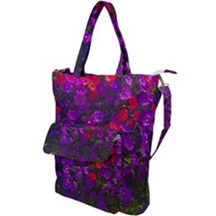 Purple Petunias Shoulder Tote Bag by bloomingvinedesign