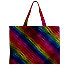 Largerainbowdragonscales Zipper Mini Tote Bag by bloomingvinedesign