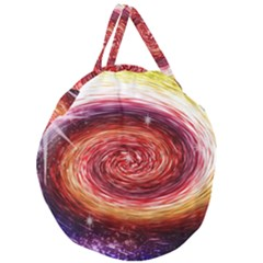 Rainbow Sparkle Swirl Giant Round Zipper Tote by bloomingvinedesign