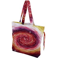 Rainbow Sparkle Swirl Drawstring Tote Bag by bloomingvinedesign