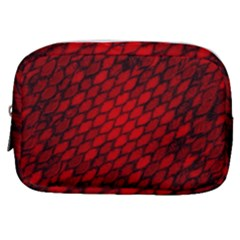 Red Dragon Scales Make Up Pouch (small) by bloomingvinedesign