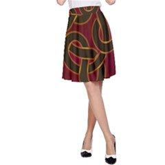 Beautiful Art Pattern A Line Skirt